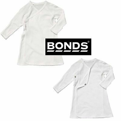 Bonds Baby Beginnings Nightgown Night Gown Pjs Pyjamas White Cotton Boys Girls