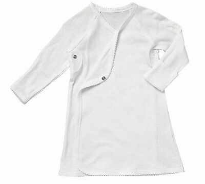 Bonds Baby 100% Organic Cotton Nightgown Night Gown Pjs Pyjamas White Boy Girl
