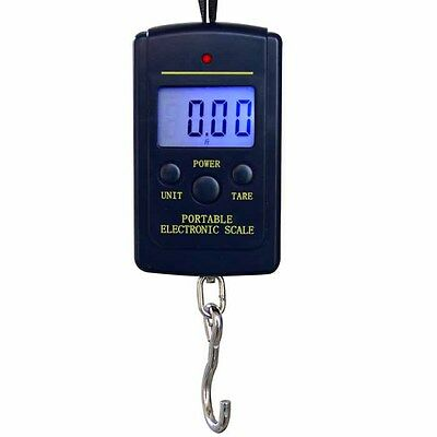 40kg/10g Mini Portable Electronic Digital Fishing Scale Hanging Luggage Scale