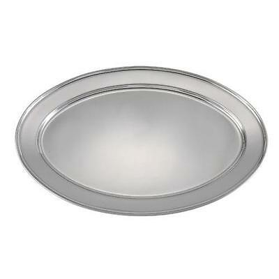 Winco - OPL-22 - 21 3/4 in x 14 1/2 in Oval Stainless Steel Platter