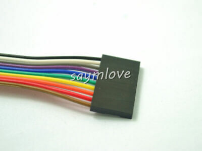 10pcs 10pin 20cm 2.54mm Female to Female jumper wire Dupont cable for Arduino