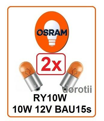 2x OSRAM 5009 RY10W 12V BAU15s halogen ORIGINAL auto car turn signal Germany