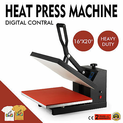 "16""x20"" Heat Press Transfer 40X50 Lcd Temperature Elevated Platen Sublimation"