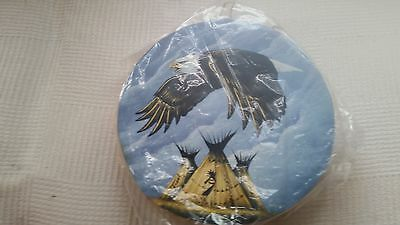 Shamanic Native American 12'' Deer skin Drum hand painted with Animal guide