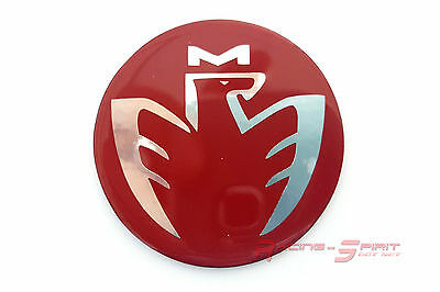 40 Mm. Glossy Red Fiber Chromed Midship Logo Horn Emblem For Mr2 Spyder Mrs Jdm