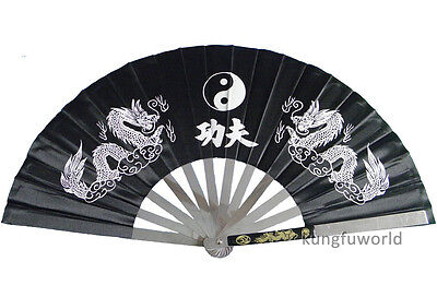 Stainless Steel Tai chi Kung fu Fan Martial arts Equipment Wushu Weapons