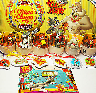 6pcs Tom and Jerry ONLY TOY FROM chochocolate balls SURPRISE eggs kinder chups