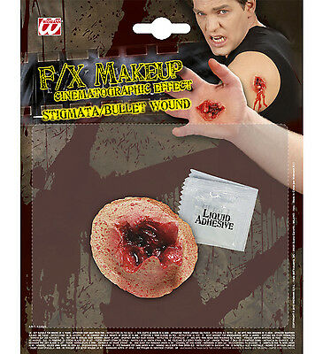 Halloween Horror Special Effect Make Up Bullet Wound Zombie FREE TUBE OF BLOOD