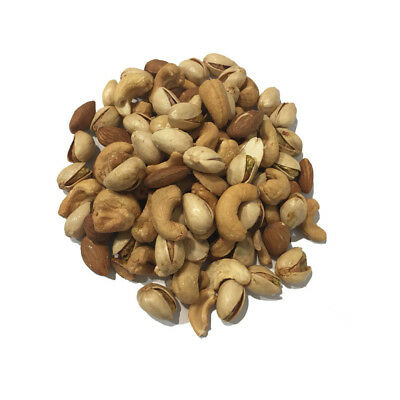 Dry Oven Roasted Unsalted Mixed Nuts 1kg Cashews Almonds Pistachios