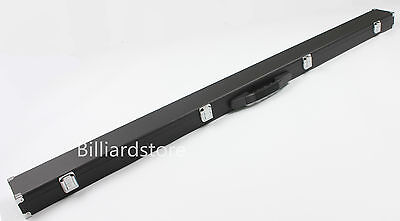 3/4 Black Snooker/Pool Cue Wooden Case With Reinforced Corners Space For Chalk