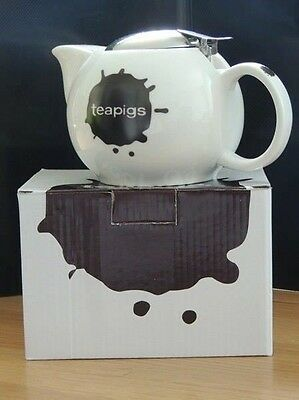 New Collectable Teapigs White Ceramic Tea Pot-Free P&P TO MOST AREAS