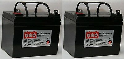(Two) 12V 35Ah Wheelchair Battery for Pride Mobility Jazzy 1103