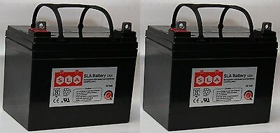 (Two) 12V 35Ah Pride Mobility Jazzy Select GT Replacement Battery