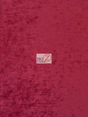 DOUBLE SIDED 390 GRAMS CHENILLE DRAPERY FABRIC - Ruby Burgundy - BY YARD DECOR