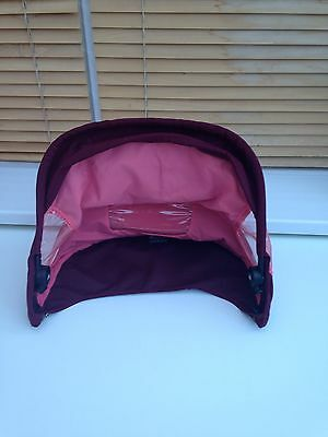 Replacement GENUINE Quinny Buzz 3 /4 Hood FREE Postage Pink Emily