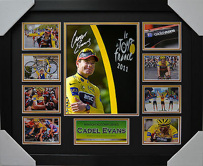 Cadel Evans Framed Limited Edition