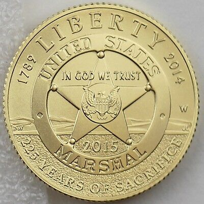 2015-W $5 U.S. Marshals Service 225th Anniversary Gold Specimen, Mint Box & COA