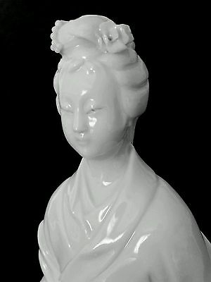 "Fine antique Chinese blanc de chine figurine of Quan Yin 10.5""/26.6 cm"