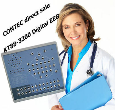 KT88-3200 EEG EOG Contec CE KT88 Digital Brain Electric Activity Mapping,PC SW