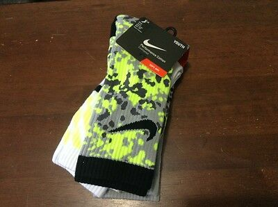 NWT Unisex Nike CREW Young Size Youth M For Shoe Size 5Y-7Y, 3 PAIRS