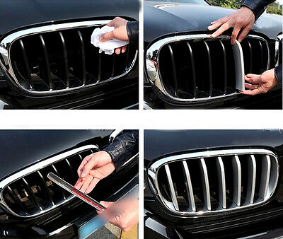 For BMW X5 F15 2014 2015 ABS Chrome Front Center Grille Grill Cover Trims  Matt