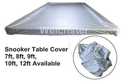 Snooker Pool Table Covers Waterproof Plastic Weighted 7ft 8ft 9ft 10ft 12ft