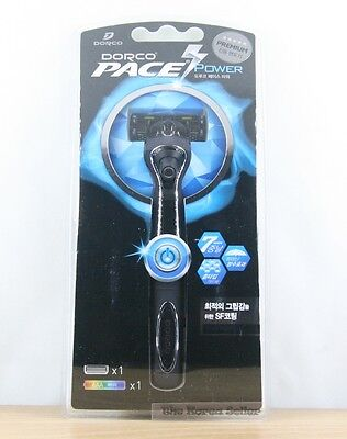 Dorco Pace 7 Blade Power Vibration Shaver 1 Razor + 1 Cartridges + 1 battery