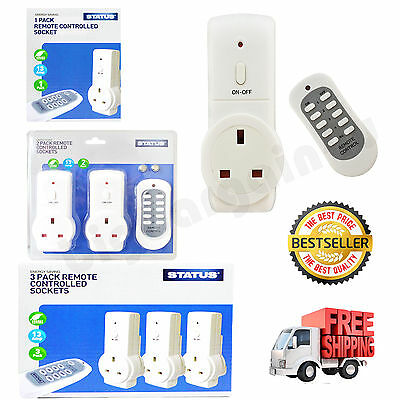 1/2/3 Remote Control Sockets Wireless Switch Home Mains UK Plug AC Power Outlet