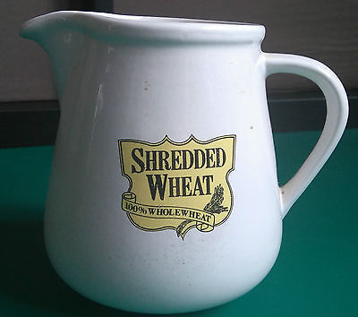 Honiton Pottery Devon Shredded Wheat jug milk 5 inches tall 4 inch wide *