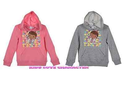Doc Mcstuffins Hoodie Sweater Jumper Top Bnwt Age 2-6Y Disney Pink Grey Free P&p