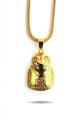 """The Gold Gods Horrus Piece Necklace 18kt Yellow Gold 28"""""""