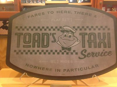 NEW Disneyland Mr Toad's Taxi Service Wild Rides Wall Sign Replica Prop 19x14