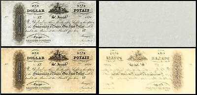 !copy! 2 Republic Of Poyais One Dollar 1821 Banknotes !not Real!