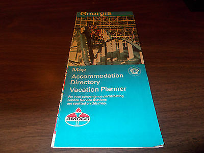 1976 Amoco Georgia Vintage Road Map
