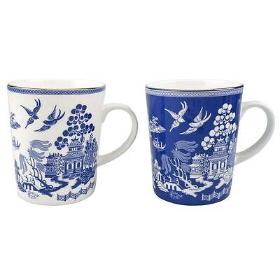 Dan Samuels - Imperial Willow in Blue Fine Bone China Tall Mug 330ml Set of 2