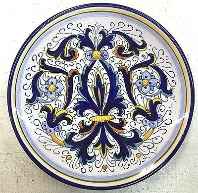 Deruta Pottery-8 inch Plate Ricco Deruta Made/painted by hand in Italy
