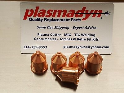 5pc x 120931 - 60A Nozzles Mfg in US by PlasmaDyn - *SKIP KNOCKOFF JUNK*