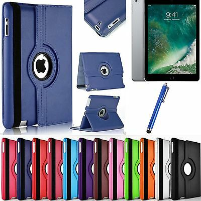 Leather 360 Degree Rotating Smart Stand Cover For iPad 2017 Air Mini & iPad 2018