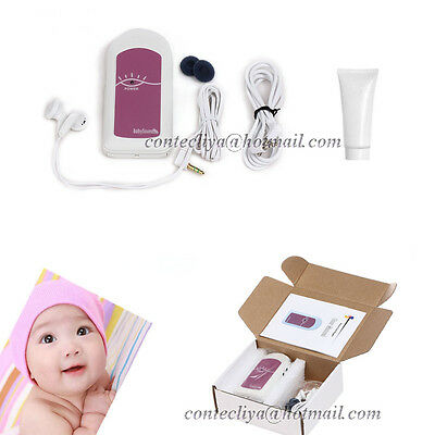 New Ultrasound Fetal doppler monitor,Baby Heart beat prenatal monitor,Gel,CE FDA