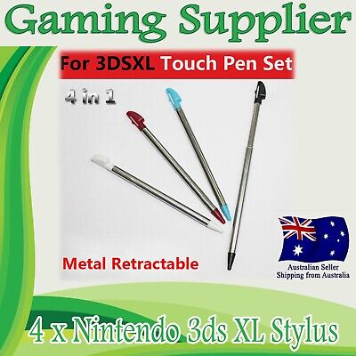 4 X Nintendo 3DS XL Retractable Colorful Tip Stylus Touch Screen Pen