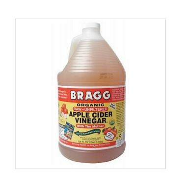 BRAGG 3.8L Organic Raw Unfiltered APPLE CIDER VINEGAR  with the 'Mother'  3.78L