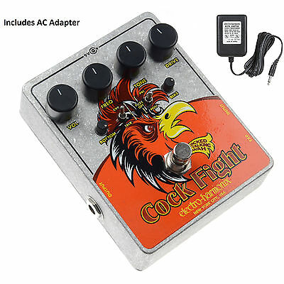 Electro Harmonix Cock Fight Cocked Talking Wah & Fuzz Guitar Pedal w/ AC Adapter