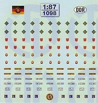 1098 - Decals Diverse DDR-Organe 1:87