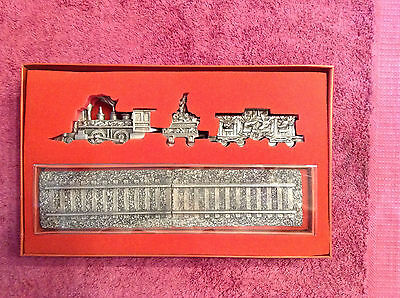 Lenox Kirk Stieff Holiday Express Pewter Train Set