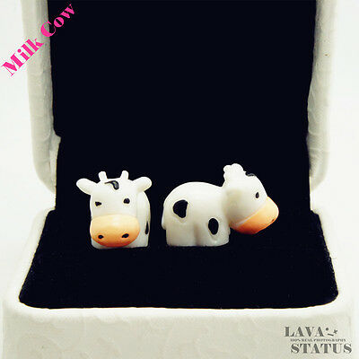 1pcs Milk Cow Cell Phone Accessories Anti Dust Plug for Mobile phone Jack Plug