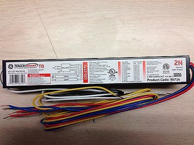 10 Ge 96714 Ge232-Mv-Ps-N 120/277  2 Lamp Electronic  Program Start Ballasts