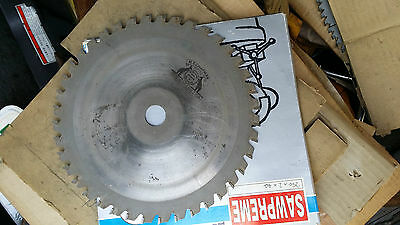 "H.T.CHAPMAN 10"" 256m 40 TUNGSTEN CARBIDE Tooth CIRCULAR SAW BLADE. Bore ID 1"""