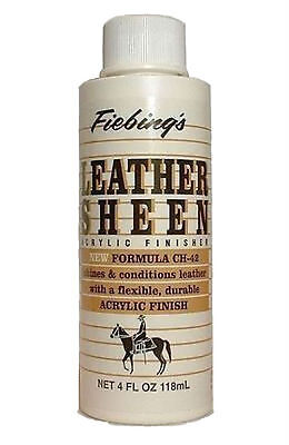 Fiebing's Leather Sheen CH-42 Formula Water-Repellent Acrylic Finisher 4 oz