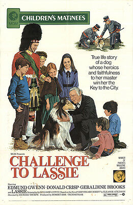 Challenge to Lassie 1973 Original Movie Poster Drama Family