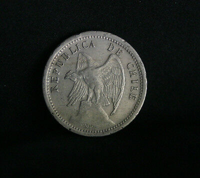 1940 20 Centavos Chile World Coin Defiant Condor on Rock  KM167.3 20 cents
